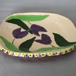 """Clay Creations"" Kiln Fired Ceramic Hand-Crafted Guest Plate Approximately 8"" Diameter $36.00"