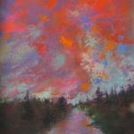 """Sunrise"" Original Pastel by Joel R. Wish Image Approximately 6"" X 12"" Framed Approximately 12"" X 18"" Framed at $245.00"