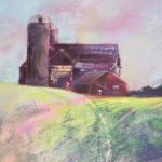 """Around the Farm"" Original Pastel  By Joel R. Wish Image approximately 11 1/2"" X 8 1/2"" Framed approximately 17 1/4"" X 17 1/2"" Framed at $235.00"