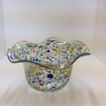 """Hand-Blown Art Glass"" Individually Hand-Crafted by Brick House Glass, unique and  signed by artist.  Approximately 4""' X 7"" Bowl $48.00"
